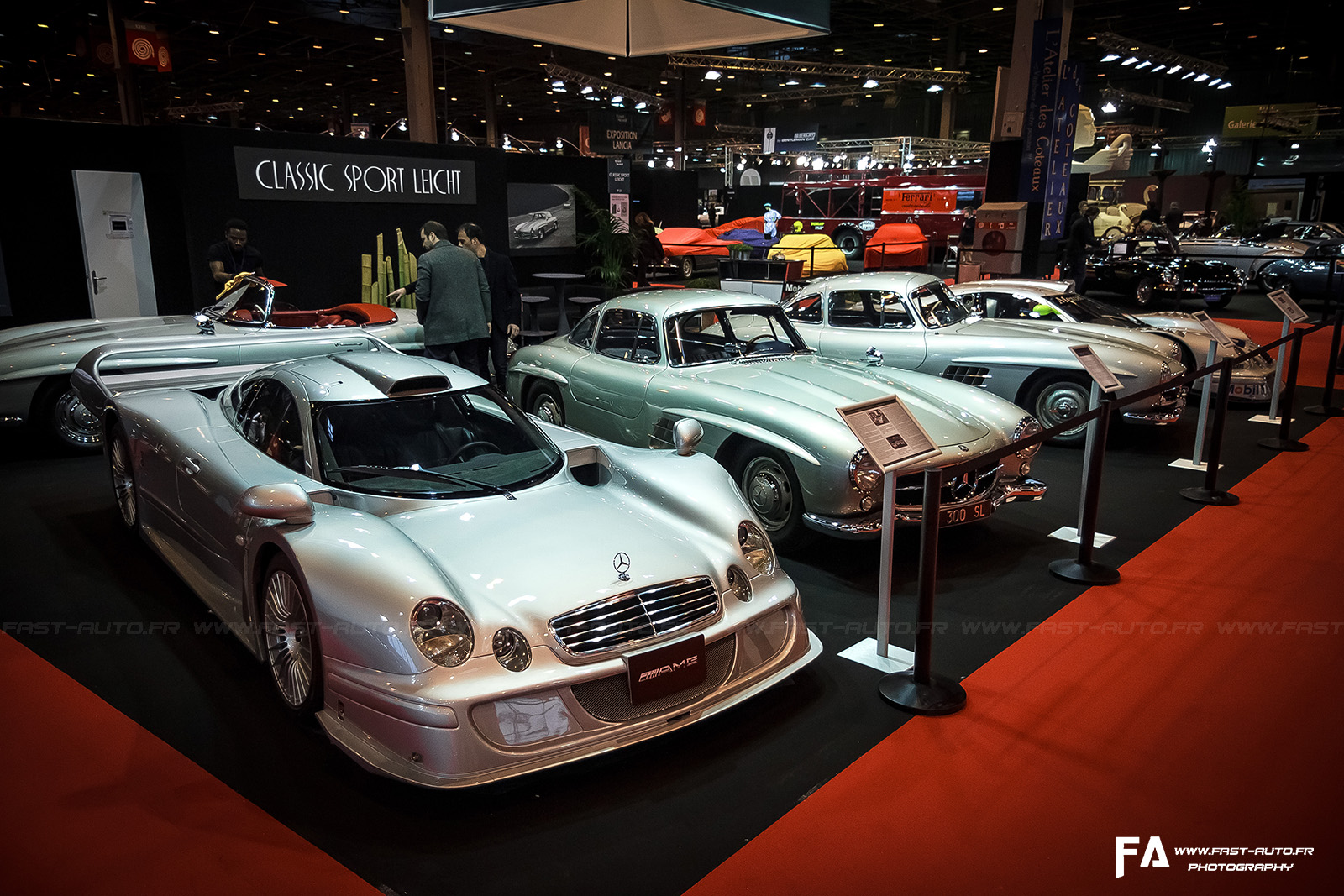 salon retromobile fevrier 2014 mercedes clk lm